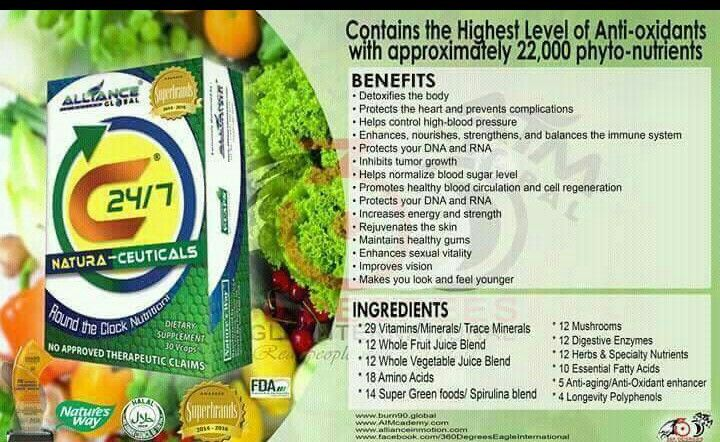 C24 7 Is A Nutritional Food Supplement From Alliance In Motion Global
