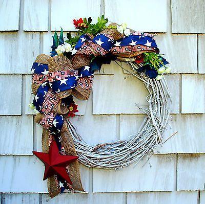 patriotic wreaths for front doorPatriotic Wreaths for Front Door  Memorial Day 4th of July