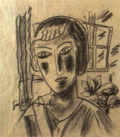 Gustave de Smet, Projet pour Femme a la fenetre, 1920