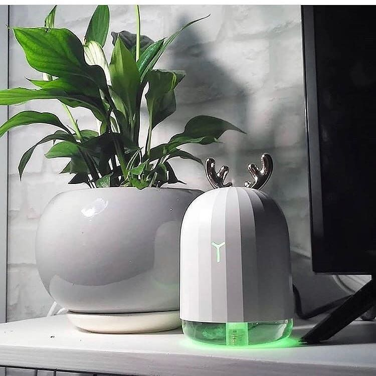 Haudang Humidificador USB con aroma madera clara purificador de aire humidificador luz nocturna LED 7 cambios de color ultras/ónico difusor de aceites esenciales para casa