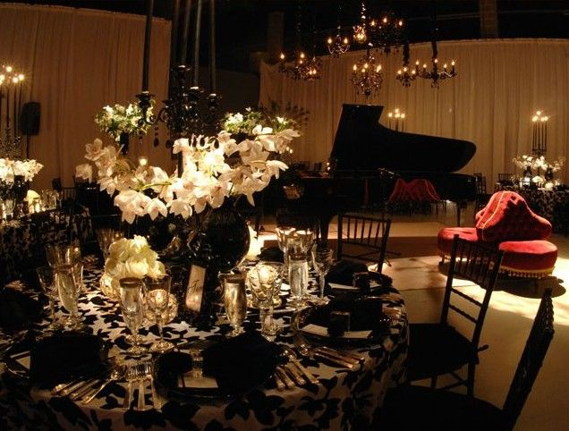 Ask Taylor The Wedding Planner Choosing A Color SchemeAll Black Everything