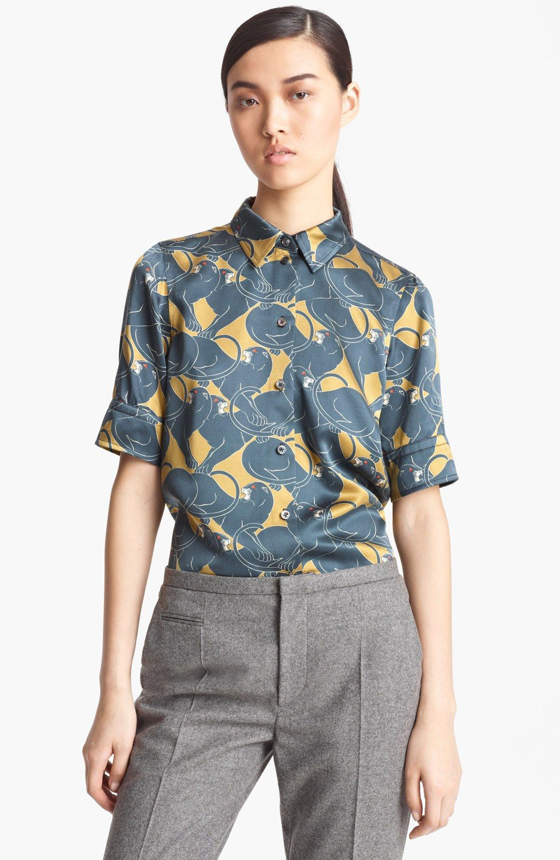 MARC JACOBS 'Disco Panther Print' Silk Shirt | Nordstrom