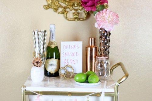Diy Ikea Hack Gold And Marble Bar Cart Tea Party Pinterest