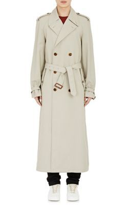 Maison Margiela Twill Double Breasted Trench Coat