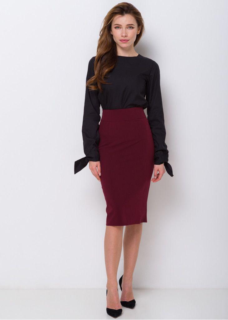 Стильная и удобная юбка-карандаш | Юбка, Юбка с высокой ...