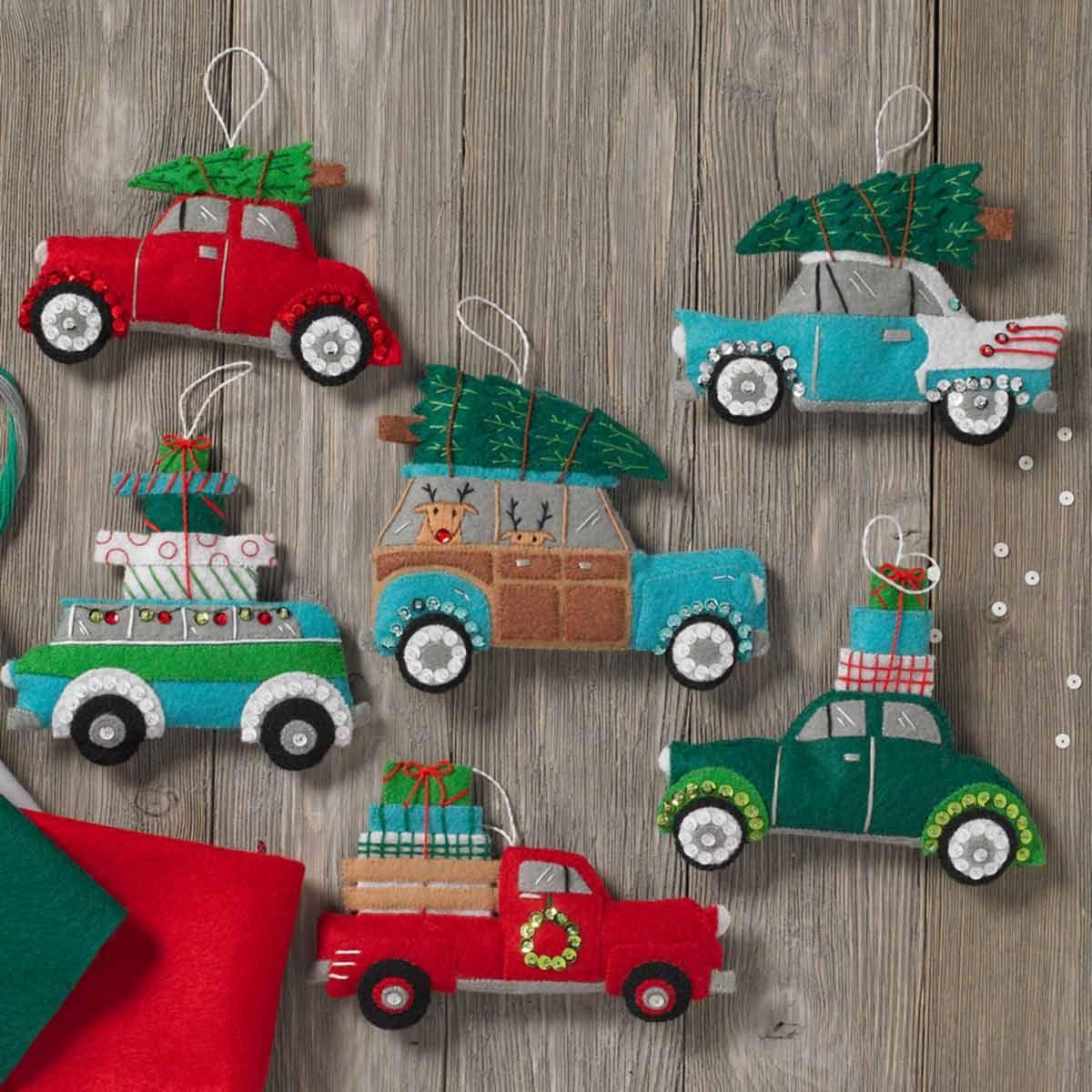 Shop Plaid Bucilla ® Seasonal Felt Ornament Kits