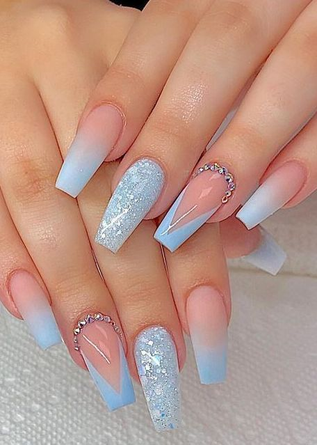 20 Gorgeous But Easy Nail Art Designs You Can T Afford To Miss Blue Acrylic Nails Coffin Nails Long Coffin Nails Designs