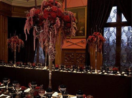 Dita Manson In 2020 Foliage Wedding Decor Candlelit Wedding Dita Von Teese