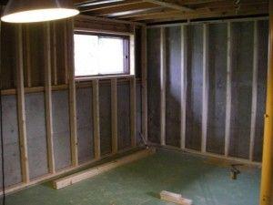 Framing Exterior Basement Walls