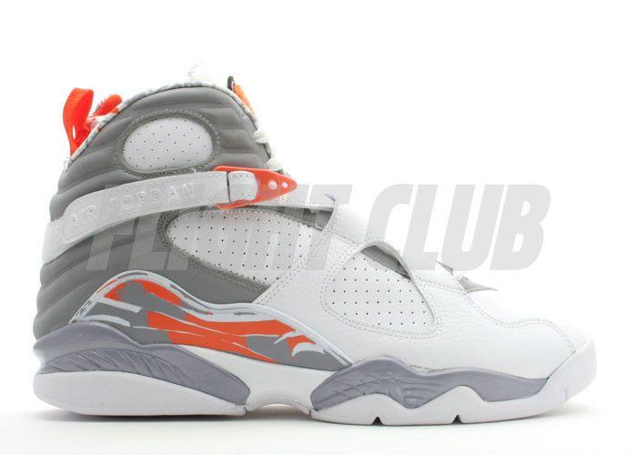 white grey orange jordan 8