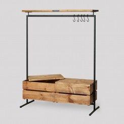KLEIDERSTÄNDER 2 - WOOD + BOXES (NOODLES & NOODLES) | Frida ...