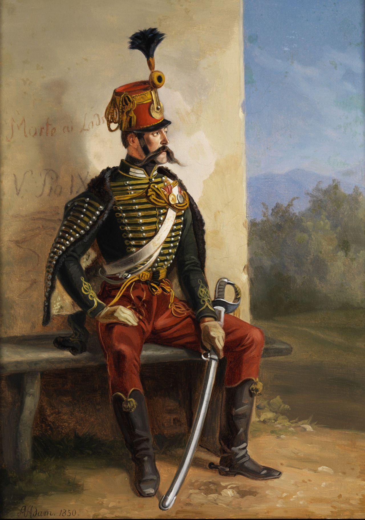 Albrecht Adam: Französischer Soldat bei der Rast (by Albrecht Adam), 1850 Tache +10 Morale, +20 Defen...