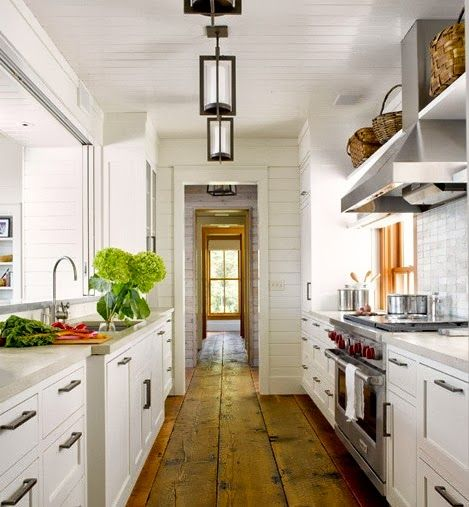 My Galley Kitchen Reno: Love The Floors In This Galley Kitchen