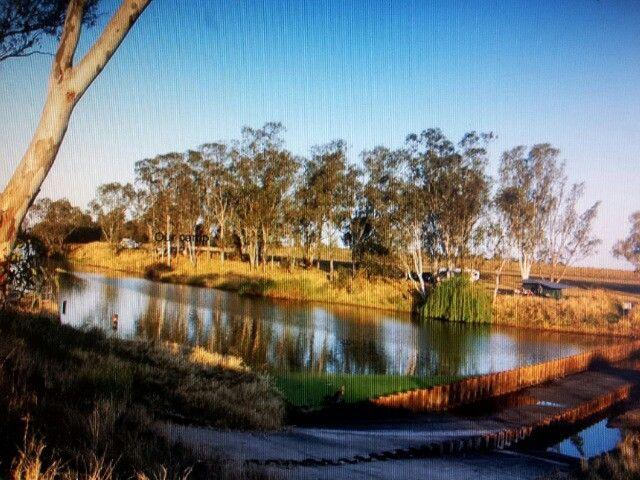 Condamine River QLD Australia - Camping near a weir ...