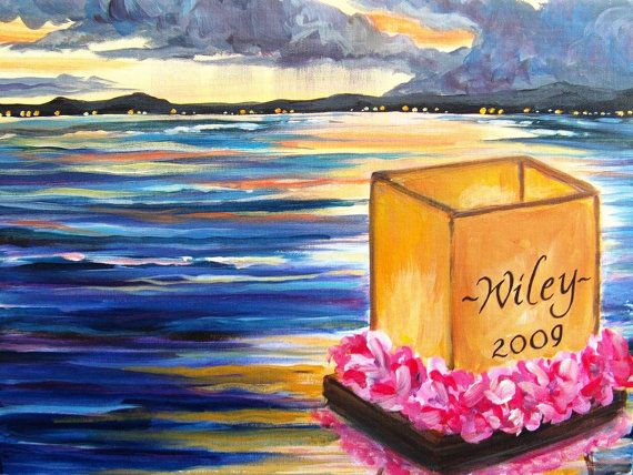 Custom Personalized Floating Lantern Painting by JoleyWileyFineArt, $39.99