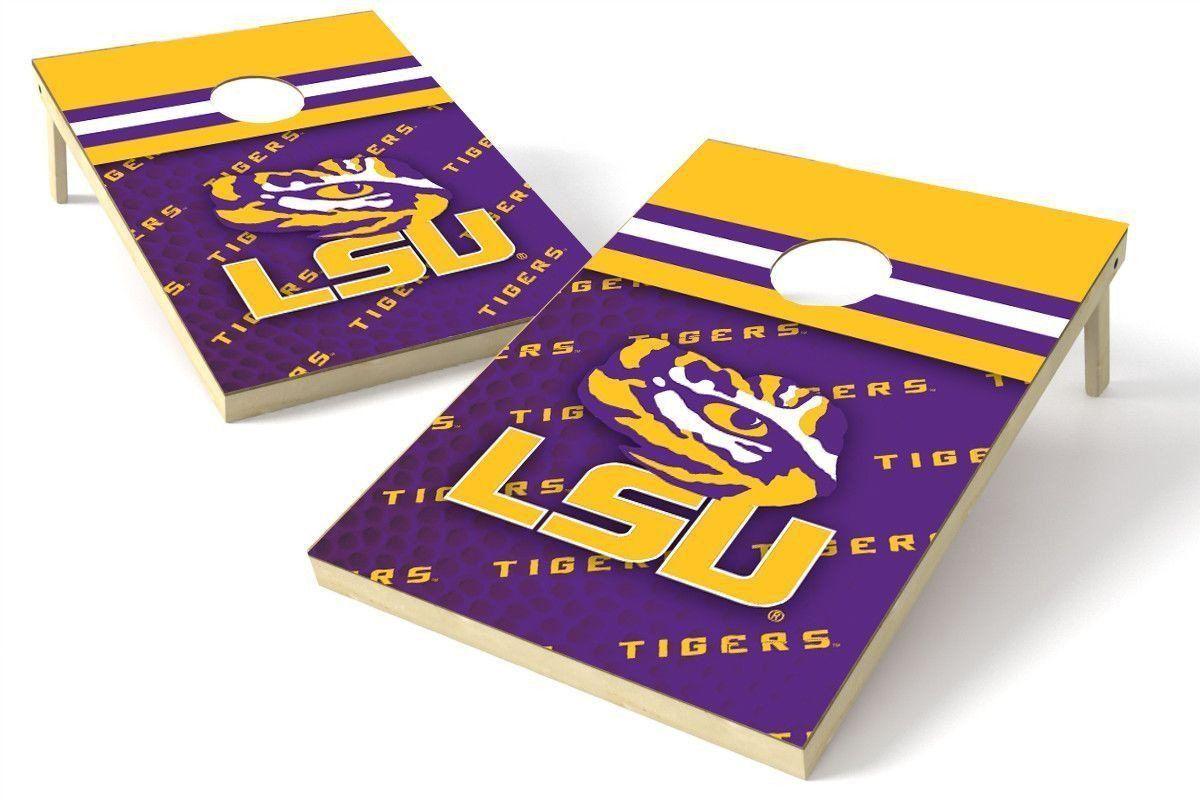 LSU Tigers 2x3 Cornhole Board Set Pigskin Cornhole