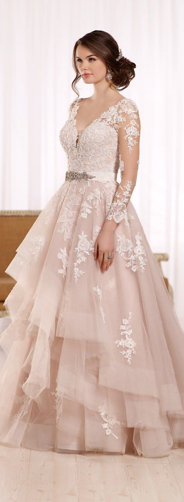 Pink lace wedding dress  What Makes a Perfect Summer Theme Wedding  Long wedding dresses