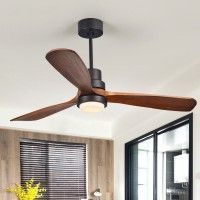 Cottage 52 Led Ceiling Fan With Light 3 Dark Walnut Blades Glass Shade Ceiling Fan With Remote Control In 2020 Ceiling Fan With Light Wood Ceiling Fans Led Ceiling Fan