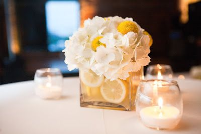 wedding decorations with burlap this simple flower arrangement incorporating lemons 9167