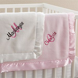 Personalized Pink Baby Girl Blankets All About Me
