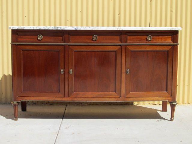 Marble Top Sideboard Server Cabinet