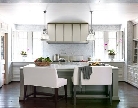 Genial Loveseat Kitchen Benches In A Wipeable Leather/vinyl. Marcus Design/House  Beautiful