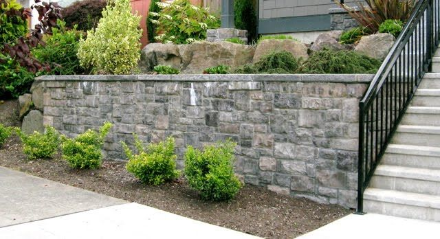 veneer stone retaining wall the interior gallery backyard garden