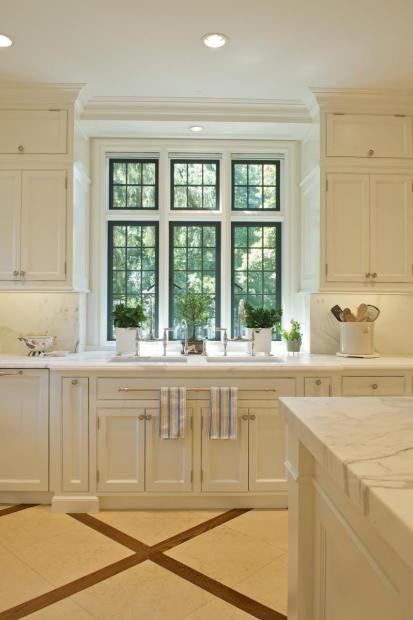 3 Windows Over Sink Window Over Sink Home Tudor Kitchen