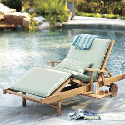 Teak Brisbane Chaise Ballard Designs Outdoor Chaise Lounge Outdoor Chaise Outdoor Teak Chair
