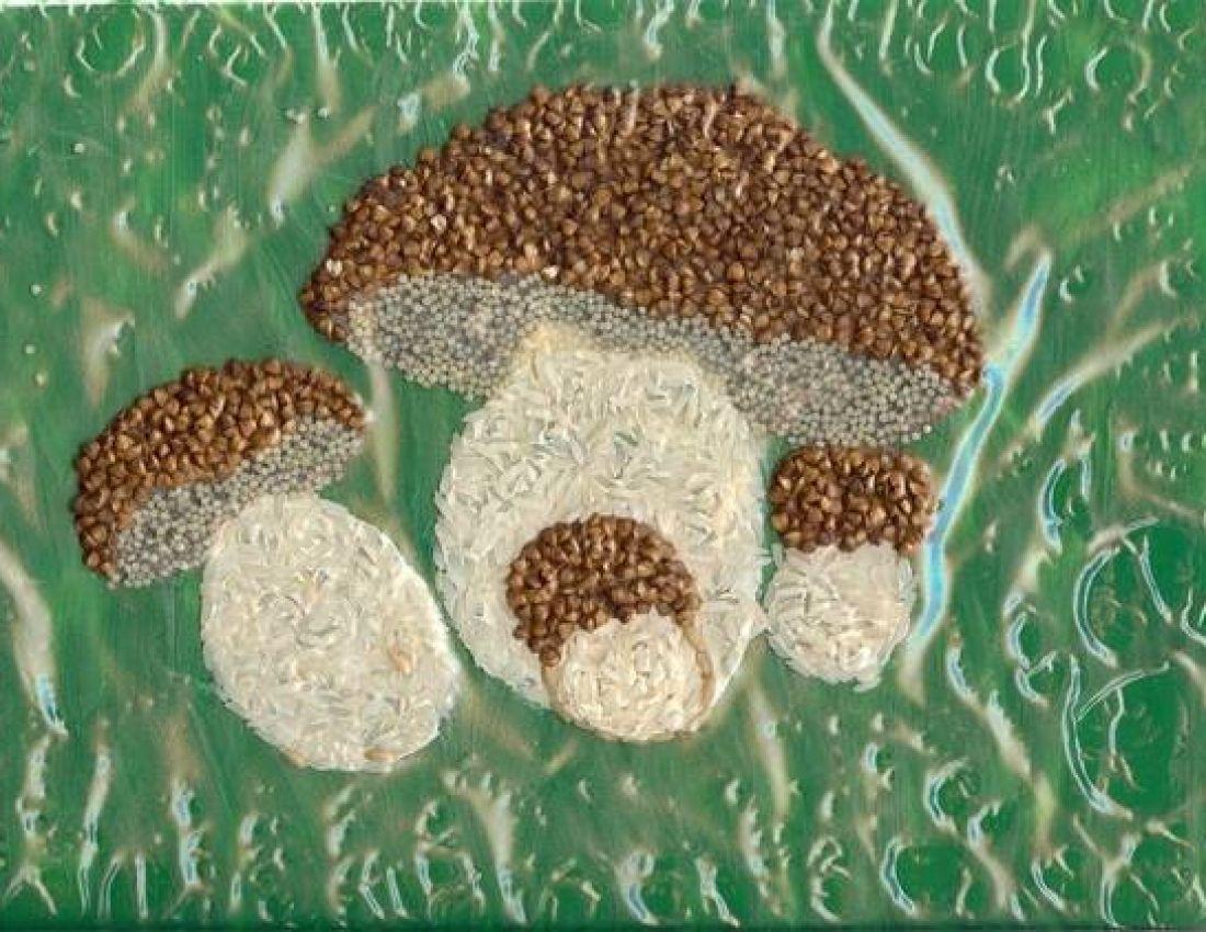 Открытка с грибами своими руками
