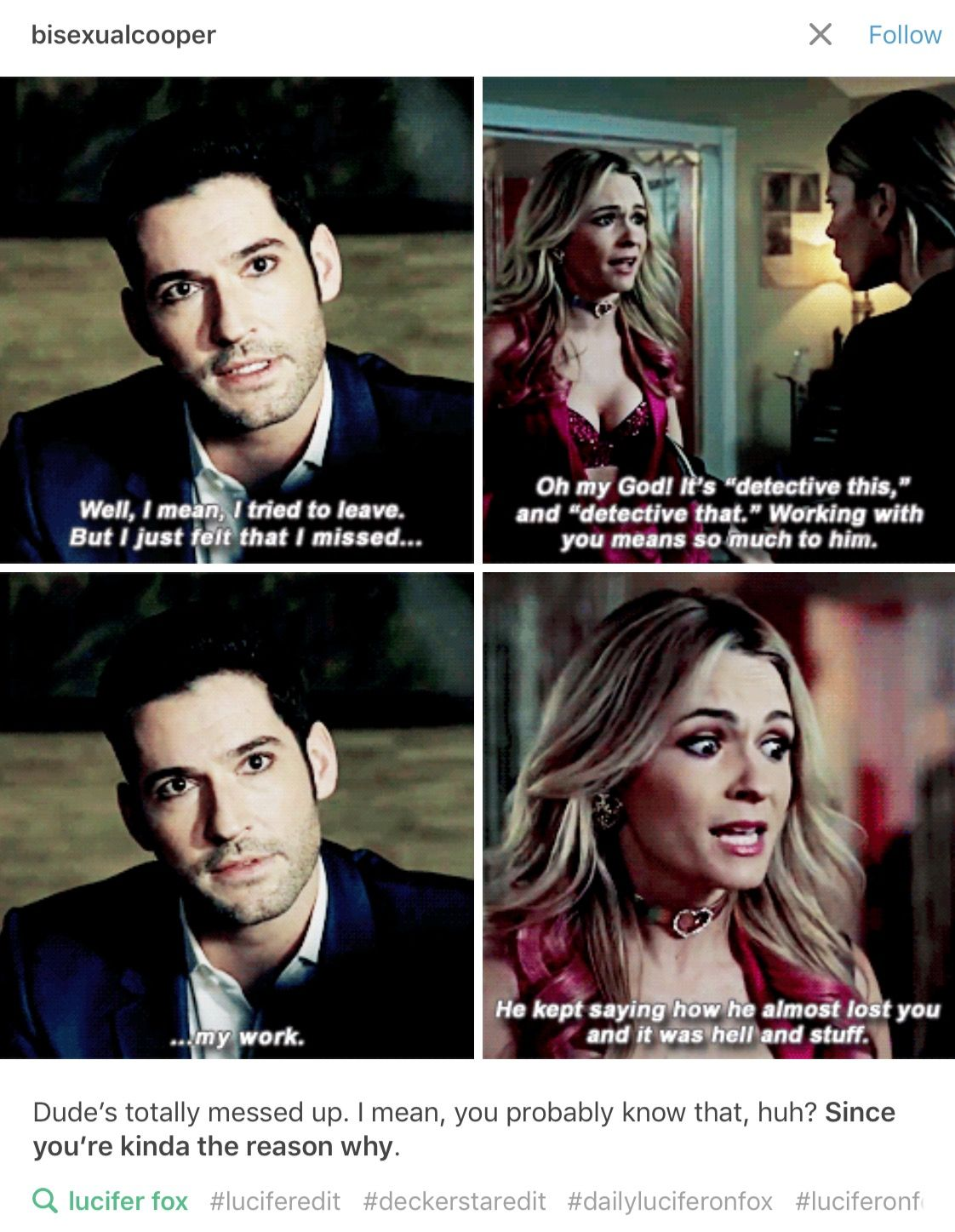 Lucifer S02e01 Aaawwwwww Lucifer Morningstar Lucifer Quote Lucifer