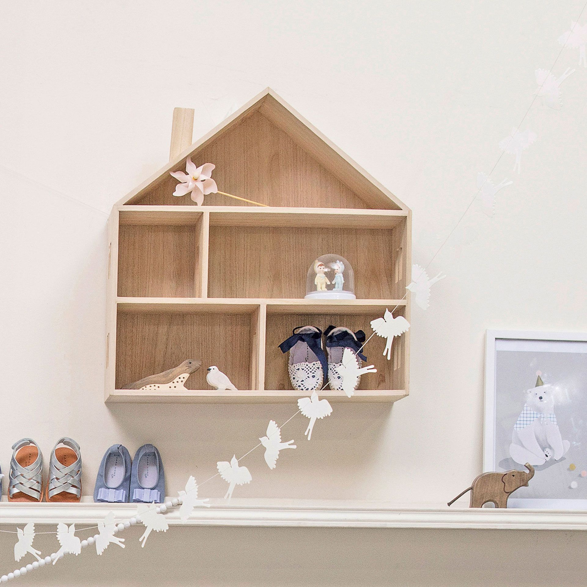Image 7 Of The Product Little Wooden Doll House Nursery