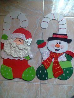 Navidad 2014 manualidades en foami buscar con google - Manualidades con fieltro para navidad ...