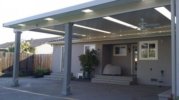Elegant Enclosure Marvelous Patio Covers For Shade With White Corrugated Plastic  Roof Panel And Flush Mount Outdoor