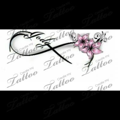 Infinity Love Tattoo Flower 103891 Createmytattoo Com Infinity Love Tattoo Tattoos With Kids Names Tattoos For Women Flowers