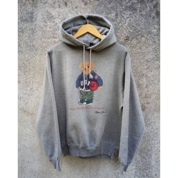 30d5993b1 RALPH LAUREN Polo Bear Basketball Hoodie ❤ liked on Polyvore featuring  tops