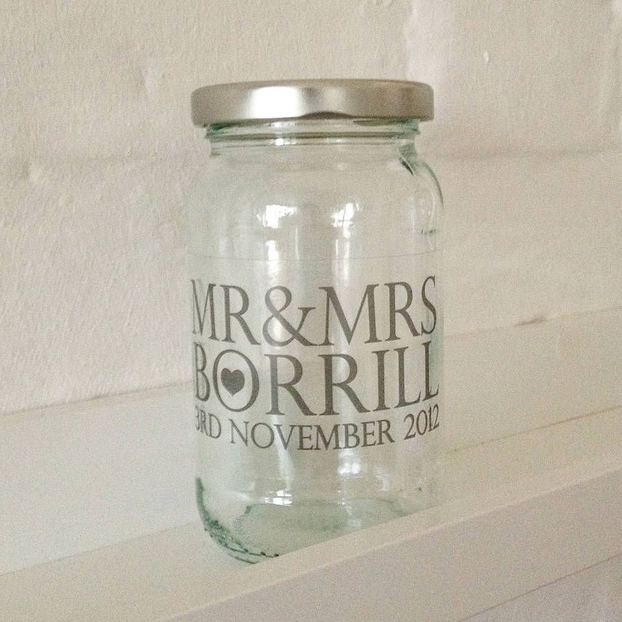 Personalised Wedding Favour Jam Jar | General wedding ideas ...