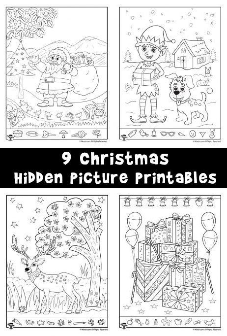 Luscious image within christmas hidden pictures printable