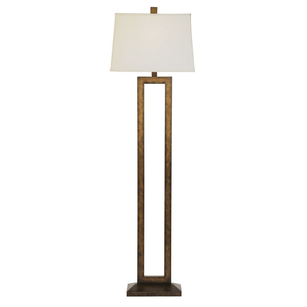 Design Classics Lighting Contemporary Floor Lamp With Rectangular Cutout And Shade 6572 604 SH7421