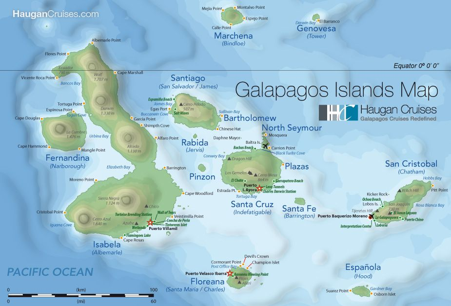 Pictures Of Galapagos Islands Map Of The Galapagos Islands