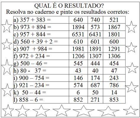 Pin Em Matematica 3 Ano