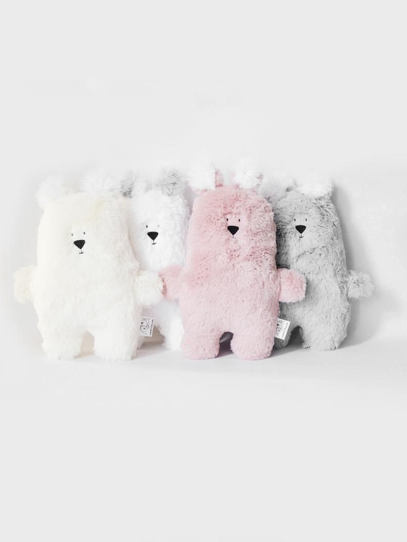 Fluffy plush bear toy, Pastel Teddy bear, Baby gift bear, Pink stuffed bear, Nursery decor, Minimal kids toy bear, Baby shower gift bear #beartoy