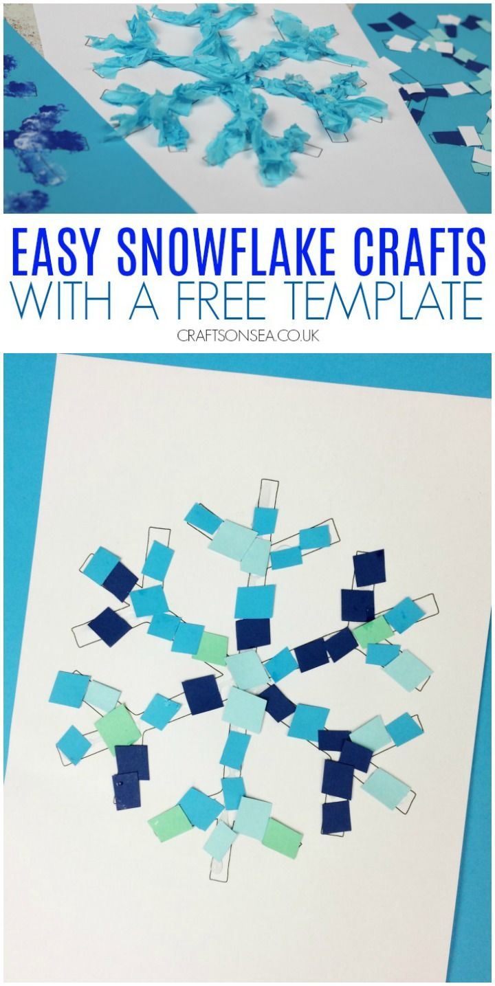 4 Easy Snowflake Crafts for Kids