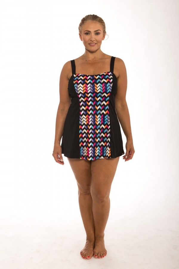 ... STRAP SWIM DRESS SWIMWEAR This Chlorine Resistant Wide Strap Swim Dress  will have you swimming to your hearts desire all while sporting a  fashionable ... 642a0e634e2