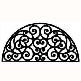 Black Wrought Iron Wall Decor half round wall art (style 198) | wrought iron, iron and wrought