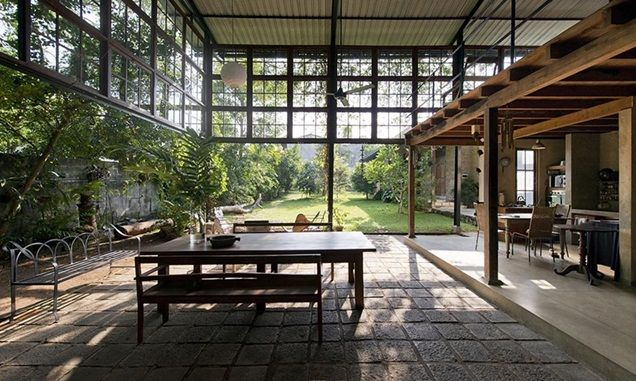 garden room in Sri Lanka by ADM Architects