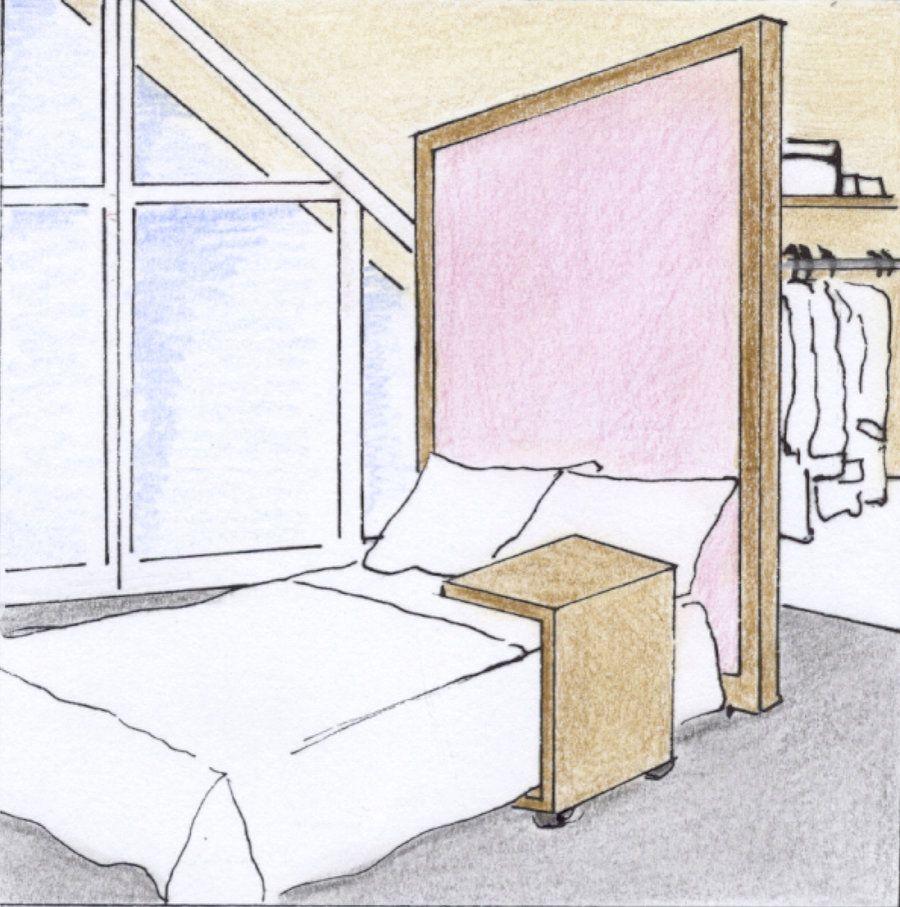 Das Thema Stauraum ist in Wohnungen mit Dachschräge ...