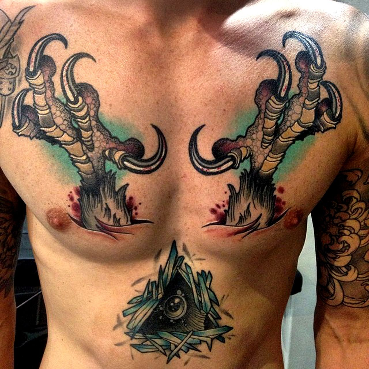 Tattoo ideas for male chest tattoo done by heath clifford  tatuajes hombres  pinterest  tattoo