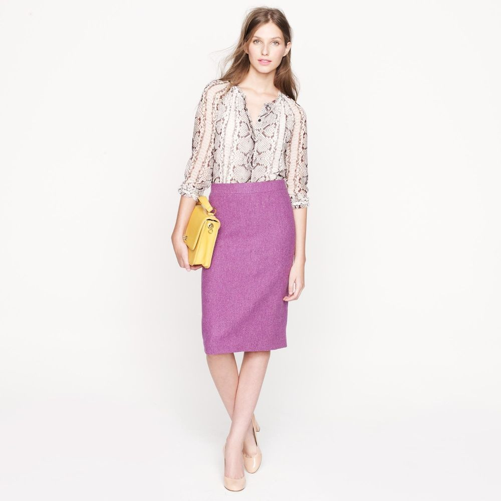 J CREW Herringbone Tweed No 2 Pencil Skirt 0 1bed723bd