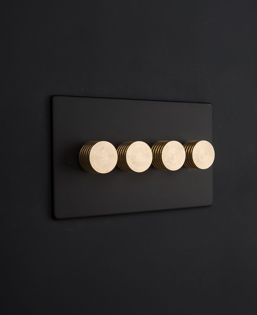 Designer Dimmer Switch Quadruple Black Light Switch Black Light